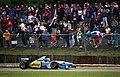Michael Schumacher - Benetton B195 at the 1995 British Grand Prix, Silverstone (49688051777).jpg