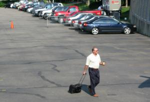 Michel Therrien -  Michel Therrien walking to the Mellon Arena on June 6, 2008