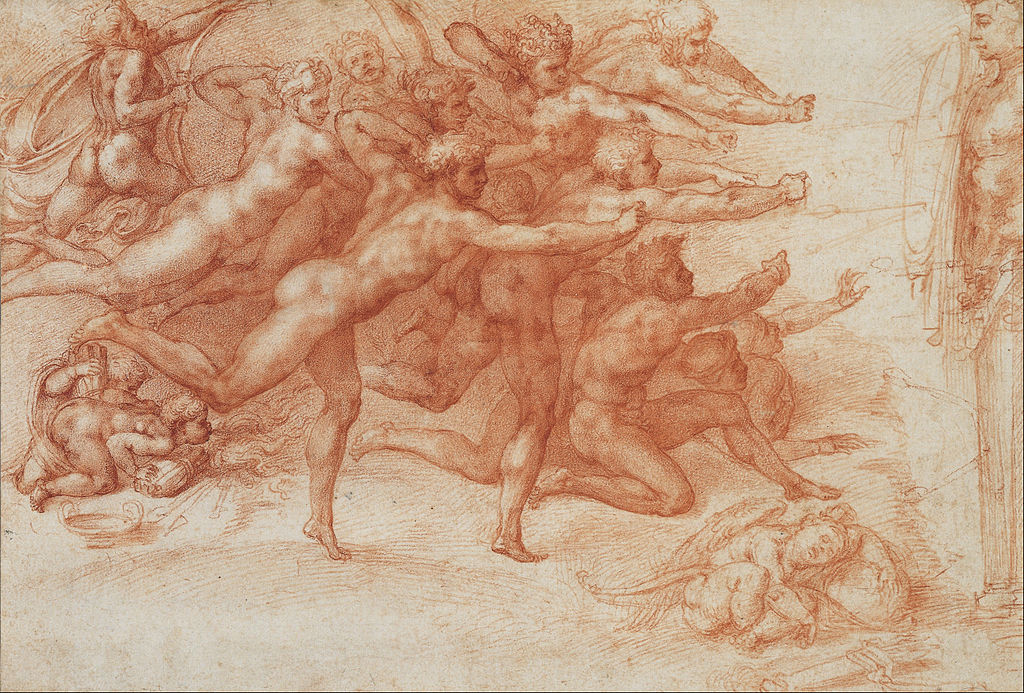 File Michelangelo Buonarroti Archers Shooting At A Herm Google Art Project Wikimedia