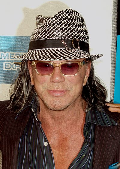 Mickey Rourke, American actor, screenwriter, and former boxer