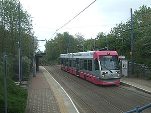 National Express Midland Metro - T-69 tram at Trinity Way in February 2006