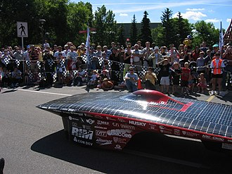 Midnight Sun Solar Race Team - Midnight Sun VIII, the team's 2005 car.