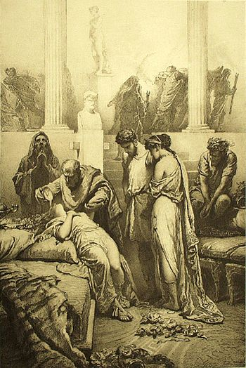 Mihály Zichy - Illustration to Imre Madách's The Tragedy of Man - In Rome (Scene 6).jpg