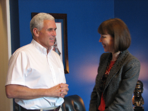 Mike Pence and Judith Miller