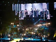 Singer upskirt on stage