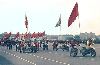 Central Group of Forces - A Victory Day Parade at the group's headquarters, 1984