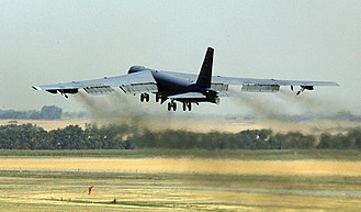 2007 United States Air Force nuclear weapons incident - A B-52H bomber taking off from Minot Air Force Base in August 2007