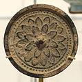 Mirror with lotus flower petals, China, Song dynasty, 960-1279, bronze - Royal Ontario Museum - DSC04216.JPG