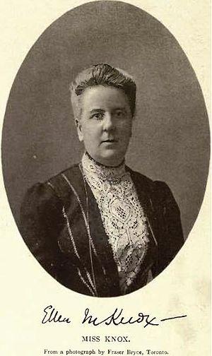 Havergal College - Miss Ellen Mary Knox, first Principal of Havergal College, Toronto