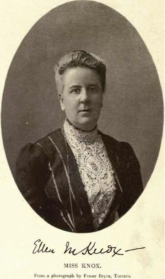 Havergal College - Miss Ellen Mary Knox, first Principal of Havergal College, Toronto