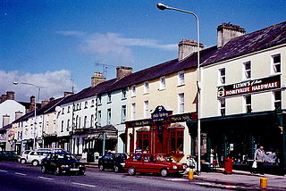 Moate Town in County Westmeath in Ireland