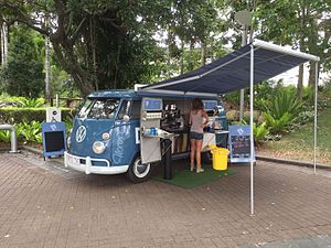 Food truck - A mobile cafe in South Bank Parklands, Brisbane
