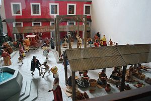 Tepotzotlán - Model of colonial-era market in Tepotzotlán