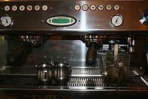A modern espresso machine.