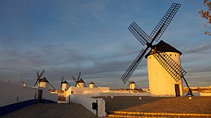 Windmills in Campo de Criptana, Spain.