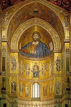 Il celeberrimo altare con i suoi mosaici