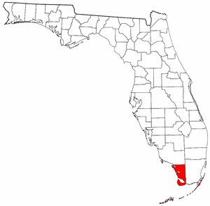 Monroe County School District (Florida) - Map of Monroe County, Florida.