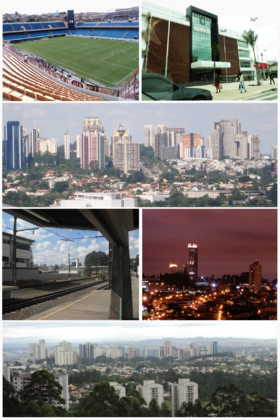 Prefeitura Municipal de Barueri, Arena Barueri, Panorâmica de Alphaville, Estação Barueri da CPTM, Vista Noturna de Barueri e Panorâmica de Alphaville.