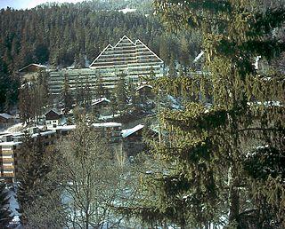 Crans-Montana Place in Valais, Switzerland