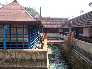 Dakshina Mookambika Temple, North Paravur - Lotus pool inside the temple