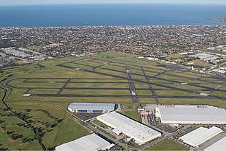 Domestic airport - Image: Moorabbin Airport overview Vabre