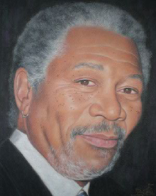 Morgan Freeman, pastel portrait by Robert Perez Palou.png