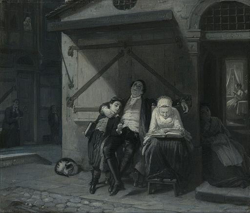 Moritz Daniel Oppenheim - Sabbath Rest (Sabbath-Ruhe auf der Gasse) - Google Art Project