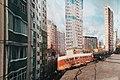Moscow, scaffolding curtain in Novokhokhlovskaya Street (19187624571).jpg
