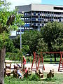 Mostar - Bosnia - Park and Ruined Building - 2007.jpg