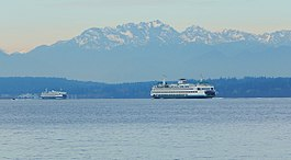 Mount Constance and ferries seen from Alki, West Seattle.jpg