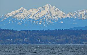 Mount Washington (Olympics) - Mount Washington seen from Seattle