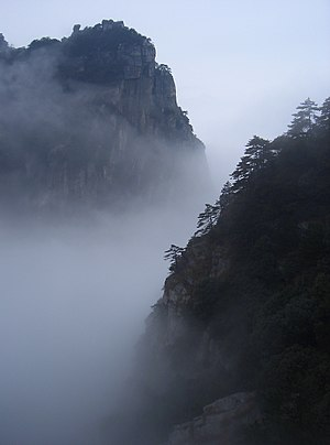 Pure Land Buddhism - Image: Mount Lushan fog
