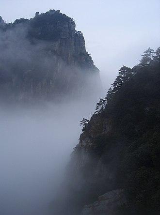 Jiangxi - The mountain peaks of Lushan National Park.