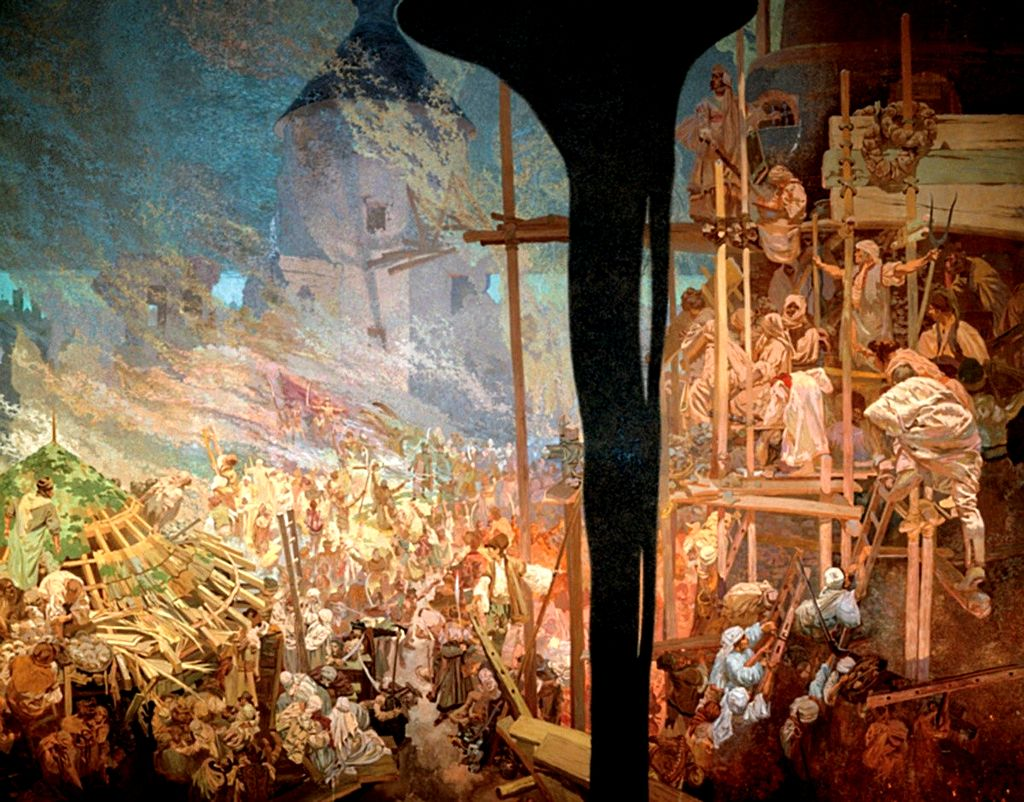 https://upload.wikimedia.org/wikipedia/commons/thumb/1/14/Mucha_defense_of_Szigetvar.jpg/1024px-Mucha_defense_of_Szigetvar.jpg