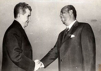 Siad Barre - Barre with Romanian president Nicolae Ceaușescu in 1976