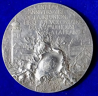 Mulhouse - The reverse of this medal.