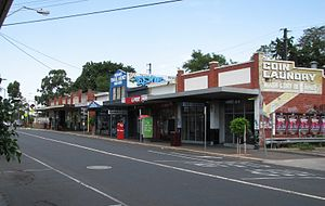 Murrumbeena, Victoria - Shops on Neerim Road, Murrumbeena's main street