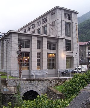 Hydroelectricity in Italy - Old hydroelectric plant, now museum, in Cedegolo, Val Camonica