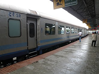 Superfast/Mail Trains in India - Shatabdi Superfast Express LHB coaches at Mysore Station