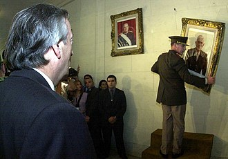 Reynaldo Bignone - President Néstor Kirchner had Bignone's portrait removed in 2004 from the National War College, which the general had directed in the 1960s