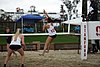 NCAA beach volleyball match at Stanford in 2016 (26382168442).jpg