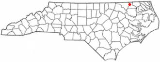 Murfreesboro, North Carolina - Image: NC Map doton Murfreesboro