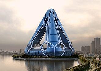 Arcology - Concept design for the NOAH (New Orleans Arcology Habitat) proposal, designed by E. Kevin Schopfer.