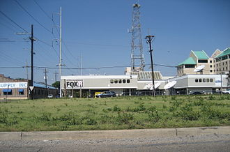 WVUE-DT - WVUE's Jefferson Davis Parkway studio, March 2007.