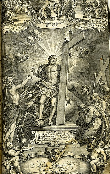 Titlepage of the New Testament section of a Ge...