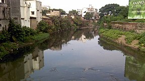 Nag River reflecting urban pollution.jpg