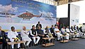 Narendra Modi at the foundation stone laying ceremony for HAL's Helicopter Factory, at Tumakuru, Karnataka. The Governor of Karnataka, Shri Vajubhai Rudabhai Vala, the Union Minister for Defence, Shri Manohar Parrikar.jpg