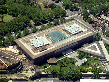 Aerial view of the National Gallery of Victoria's International building. National Gallery of Victoria from Eurkea Tower.jpg