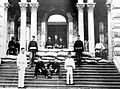 National Guardsmen at Iolani Palace, front steps, 1895.jpg