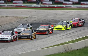 2014 NASCAR Nationwide Series - The lead cars during Gardner Denver 200 in June (Turn 5 at Road America)